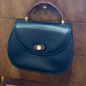 Handbags - Black with brown leather vintage bag